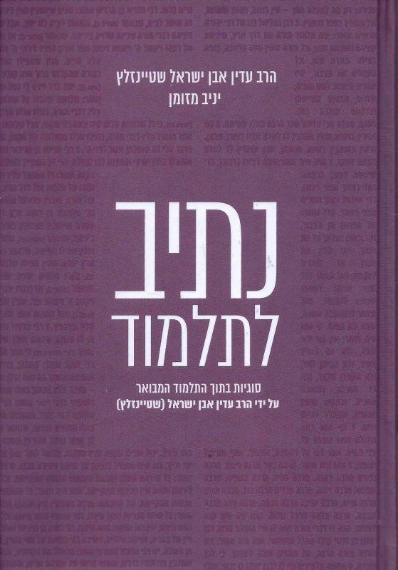 נתיב לתלמוד : סוגיות בתוך התלמוד המבואר על ידי הרב עדין אבן ישראל (שטיינזלץ)